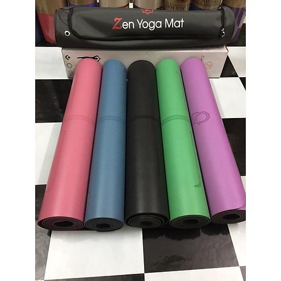 Kết quả hình ảnh cho Thảm Tập Yoga Định Tuyến PU Zen Yoga Mat TIKI