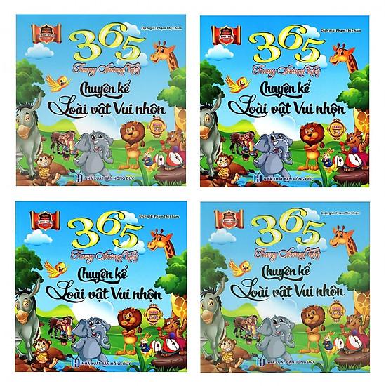 Combo 4 Cuốn 365 Chuyện Kể Loài Vật Vui Nhộn – Song Ngữ Anh – Việt