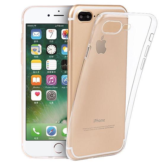 Hình đại diện sản phẩm Ốp Silicone Trong Suốt Bảo Vệ Điện Thoại Meiyi Apple iPhone7 Plus/ 8plus 5.5 Inches - Trắng Trong Suốt