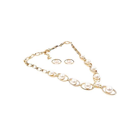 Bộ Trang Sức Ngọc Trai TS24H NB3083 - Vàng