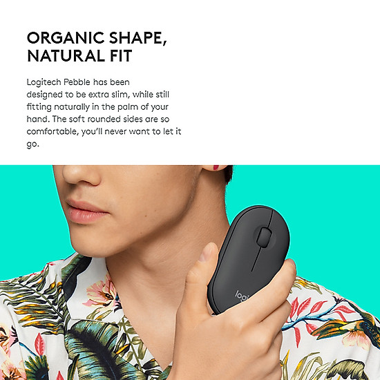 Logitech Pebble Wireless Mouse BT Mouse BT 2.4 GHz USB Receiver Dual Connectivity Slim Optical Computer Mice For Laptop - Black-6