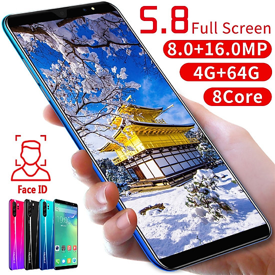 X27 5.8-inch 8-core 4G + 64G Smartphone Face Recognition Plug - rose Red - European regulations-3
