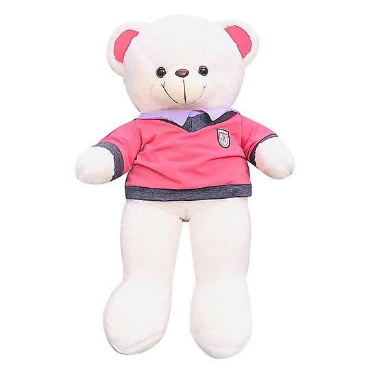 Gấu Teddy Lông Nhung Mặc Áo Ichigo (90cm)
