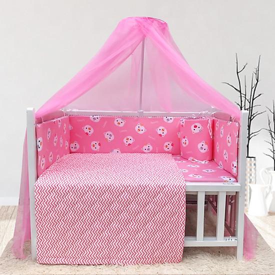 Cũi cho bé – Combo cũi giường sơn Trắng Hồng Goldcat – Phụ kiện Heo hồng