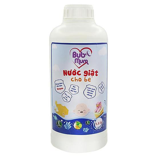 Nước giặt cho bé 1,5 lít BuB&MuM công dụng làm mềm vải, diệt khuẩn bám vào vải thành phần