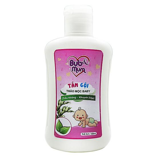 Tắm gội Thảo mộc Baby chiết xuất Trầu Không và Khuynh diệp 100ml BuB&MuM công dụng diệt k