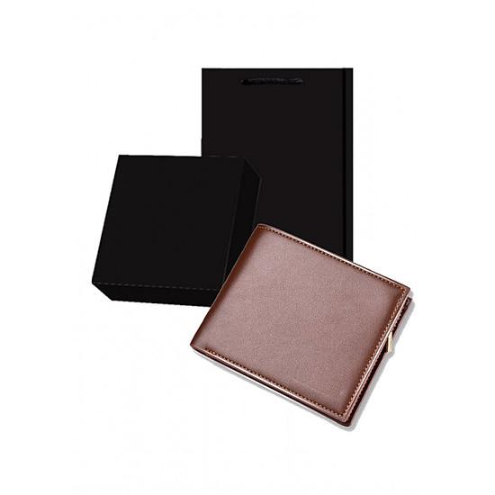 Ví da nam thời trang có túi hộp đen theo kèm làm quà tặng