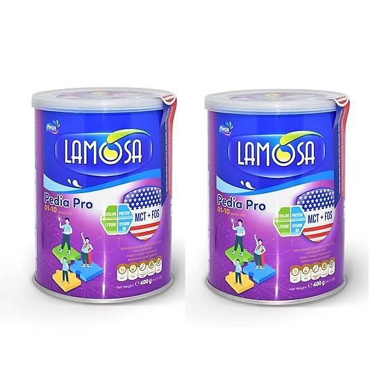 Bộ 2 Lon Sữa Bột Thực Phẩm Bổ Sung LAMOSA PEDIA PRO Loại 400g