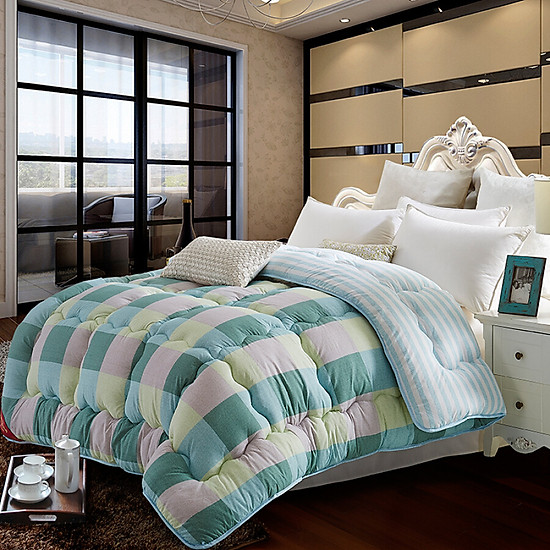 Byford soybean fiber thickened cotton quilts single quilt spring and autumn by the core 200 * 230cm soybeans