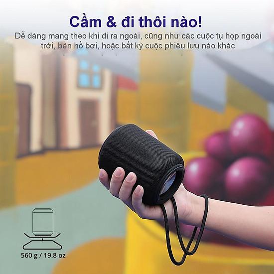 Loa Bluetooth Tronsmart Element T6 Mini Loa Bluetooth 5.0 ngoài trời chống thấm nước IPX6 15W - Hàng Chính Hãng - Đen-6