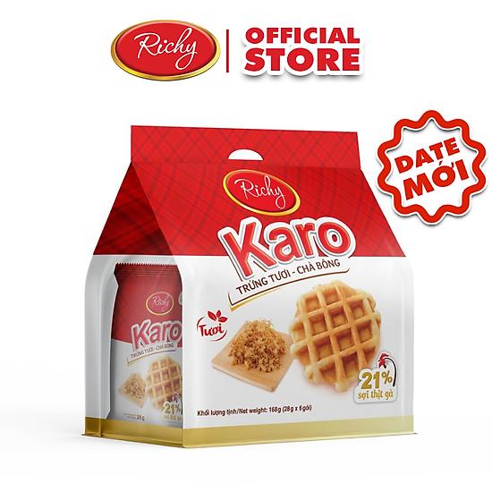 Bánh tươi Karo Richy Bịch 24 chiếc (26g/chiếc)-1