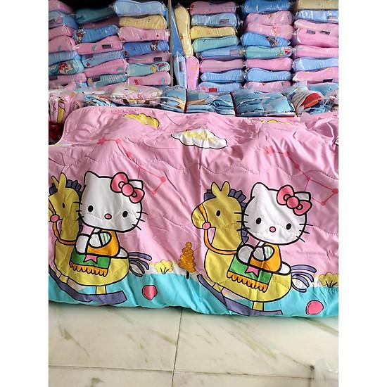 Chăn Hè Cotton Đũi Cho Bé Siêu Mềm Mịn Họa Tiết Mèo Hồng