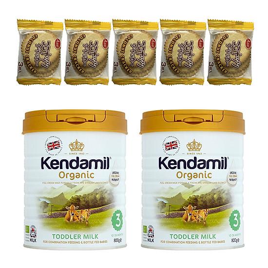 Combo 2 hộp Sữa Nguyên kem công thức hữu cơ KENDAMIL ORGANNIC số 3: ORGANIC TODDLER MILK