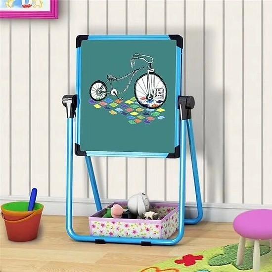 Bảng vẽ kiêm bàn học cho bé 2 in 1 hàng cao cấp giao màu bé trai