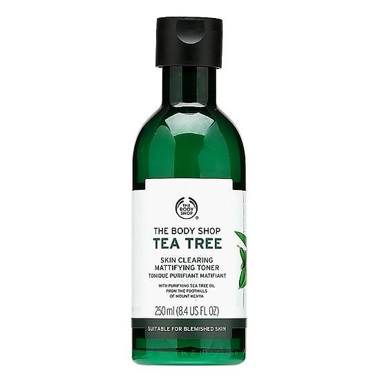 Kết quả hình ảnh cho Nước Hoa Hồng Dưỡng Ẩm The Body Shop Tea Tree (250ml) tiki
