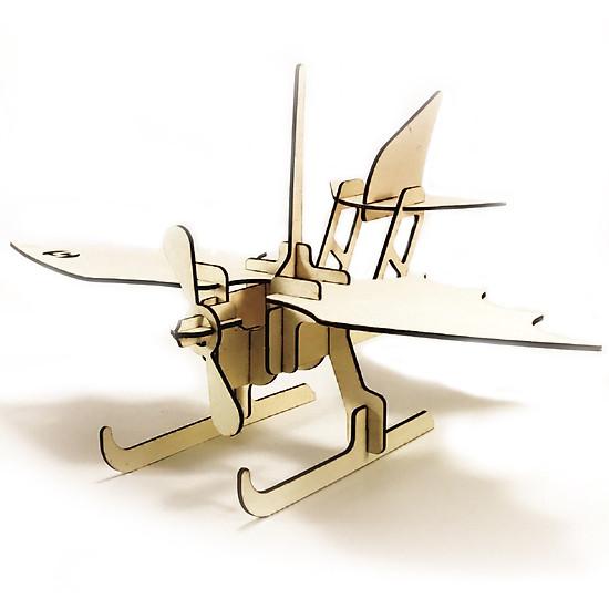 Máy bay 05 _ Mô Hình Lắp Ráp Gỗ bằng Hình Ảnh