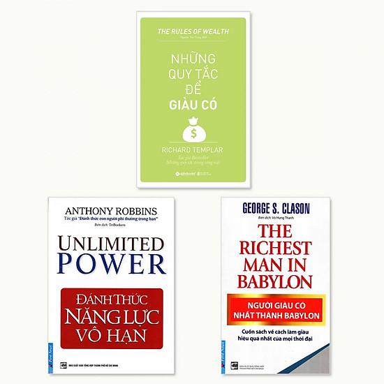 Combo 3 cuốn: Người Giàu Có Nhất Thành Babylon, Đánh Thức Năng Lực Vô Hạn, Những Nguyên Tắc Để Giàu Có