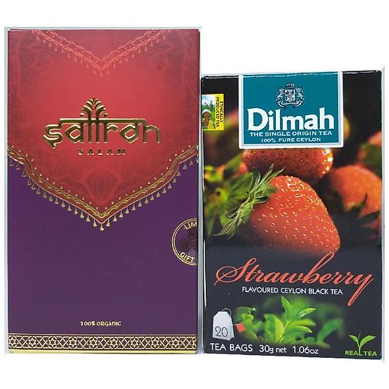 Nhụy Hoa Nghệ Tây Saffron Salam hộp 2 g tặng 1 hộp trà Dilmah dâu 20 gói