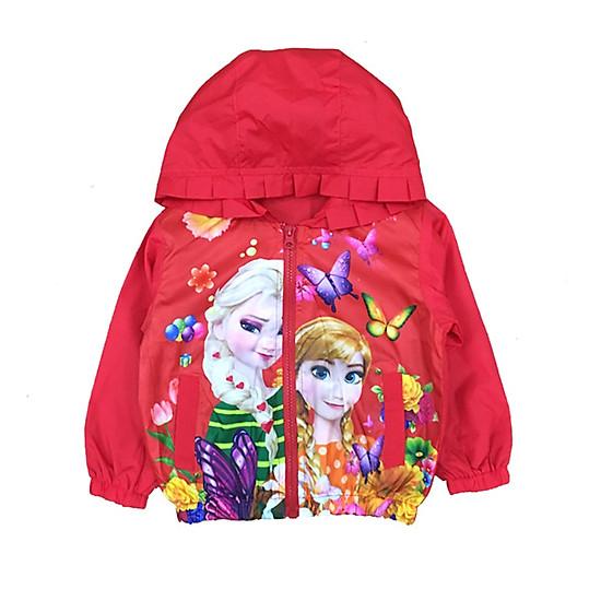 Hình đại diện sản phẩm Áo Khoác Gió Bé Gái Công Chúa Elsa & Anna Vinakids 339900175 - Đỏ