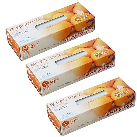 Hình đại diện sản phẩm Combo 3 set 50 túi ny lông bảo quản thực phẩm nội địa Nhật Bản