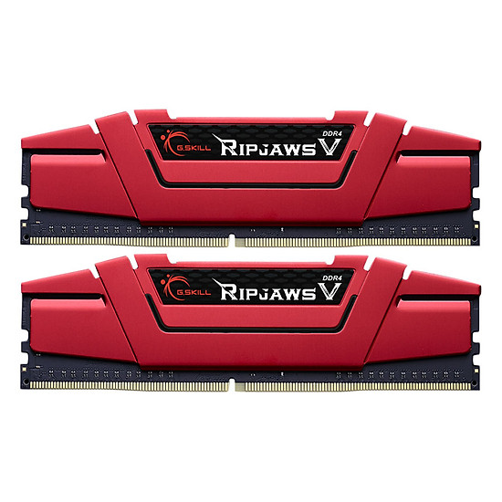 Bộ 2 Thanh RAM PC G.Skill F4-2666C15D-16GVR Ripjaws V 8GB DDR4 2666MHz UDIMM XMP – Hàng Chính Hãng