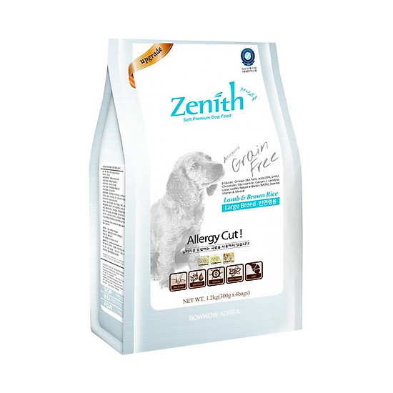 Combo 2 túi thức ăn hạt mềm chó lớn Zenith (1.2kg x 2 túi)