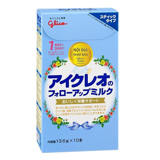 Combo 2 hộp 10 gói Sữa Glico Icreo Follow up Milk Stick Số 1 (13.6g) và đồ chơi tắm Toys