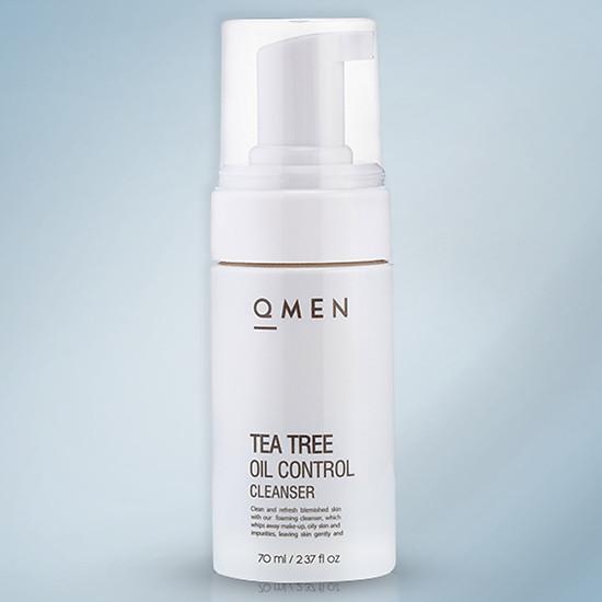 Sữa Rữa Mặt Tea Tree Oil Cleaner QMEN - Trị Mụn - Giảm Tiết Nhờn (70ml)