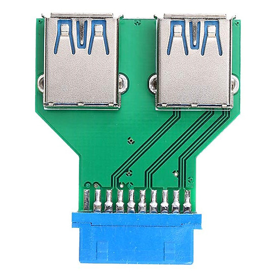 Thumb của hình 20Pin to Dual USB3.0 Adapter Connverter Desktop Motherboard 19Pin/20Pin Header to 2 Ports USB 3.0 A Female Connector