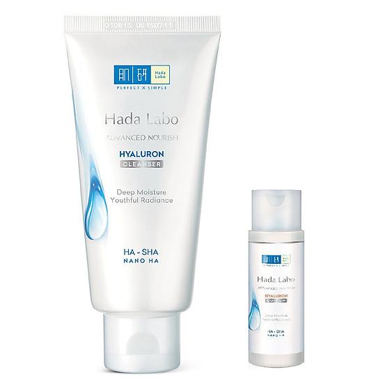 Kem Rửa Mặt Dưỡng Ẩm Tối Ưu Hada Labo Advanced Nourish Cleanser (80g) + Tặng Dung Dịch Dưỡng Hada Labo (40ml)