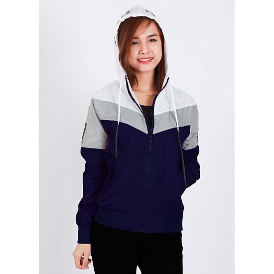 Áo khoác nữ vải dù nhẹ, chống nắng, đi mưa, cản gió tốt, phối 3 màu thời trang