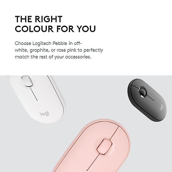 Logitech Pebble Wireless Mouse BT Mouse BT 2.4 GHz USB Receiver Dual Connectivity Slim Optical Computer Mice For Laptop - Black-7