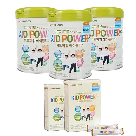 3 LON SỮA KID POWER TĂNG CHIỀU CAO TẶNG KÈM 2 HỘP GIẤY