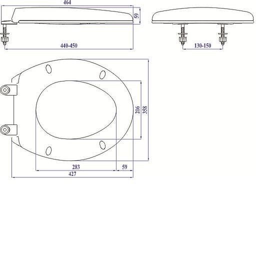 Hình ảnh Nắp bồn cầu nhựa trắng SUNZIN HA02