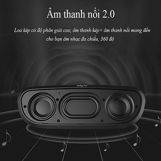 Loa bluetooth Zealot ngoài trời âm thanh siêu trầm S9 hàng chính hãng tương thích điện thoại di động máy tính laptop - Đen-17