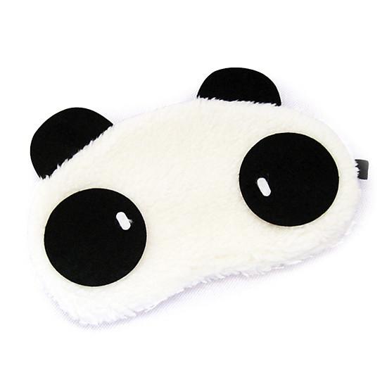 Tấm bịt mắt ngủ hình gấu panda dễ thương, chất liệu bông mềm mại