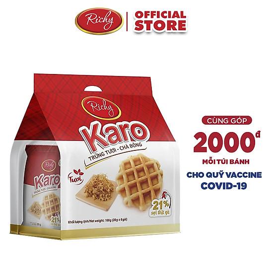Bánh tươi Karo Richy Bịch 24 chiếc (26g/chiếc)-0