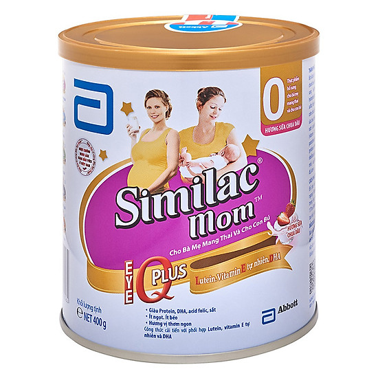 3 Hộp Sữa Bột Similac Mom Hương Sữa Chua Dâu (400g)