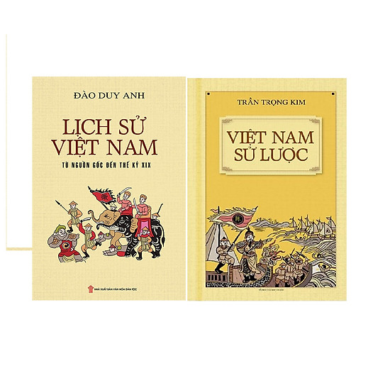Combo  Việt Nam Sử Lược (Bìa Mềm) + Lịch Sử Việt Nam Từ Nguồn Gốc Đến Thế Kỷ XIX (Bìa Mềm