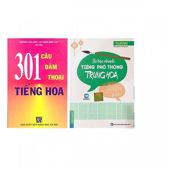 Combo Tự Học Nhanh Tiếng Phổ Thông Trung Hoa+ 301 Câu Đàm Thoại Tiếng Hoa