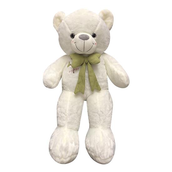 Gấu Teddy Nơ Họa Tiết Cây Bông 3 Lá Ichigo (85cm) – Nơ Màu Ngẫu Nhiên