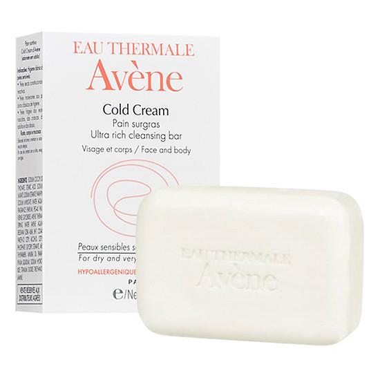 Thanh Kem Rửa Mặt Avène Cold Cream Ultra Rich Soapfree Cleansing Bar (100ml)