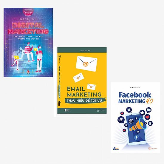 Combo Digital Marketing - Phù Thủy Truyền Thông Trong Thế Giới + Email Marketing - Thấu Hiểu Để Tối Ưu + Facebook Marketing 4.0