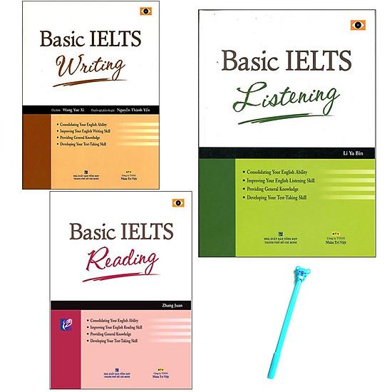 Combo Basic IELTS : Reading, Writing, Listening – Kèm Theo CD ( Tặng Kèm Viết )