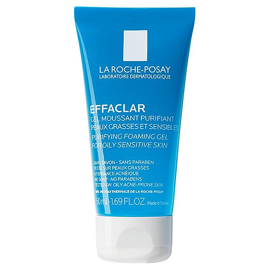 Gel rửa mặt tạo bọt làm sạch dành cho da dầu nhạy cảm La Roche-Posay Effaclar Foaming Gel 200ml - posay.foamgel.50ml