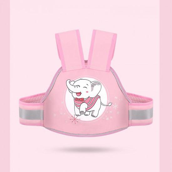 Đai nịt an toàn cho trẻ em ngồi xe máy, có dạ quang ban đêm baby (hồng)