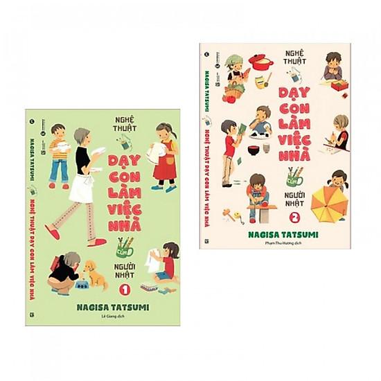 Combo Nghệ Thuật Dạy Con Làm Việc Nhà Của Người Nhật Tập 1 + Tập 2 (Tặng Bookmark Thiết K