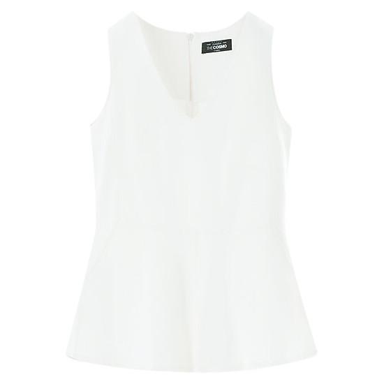 Hình đại diện sản phẩm Áo Kiểu Nữ Peplum Top The Cosmo - White