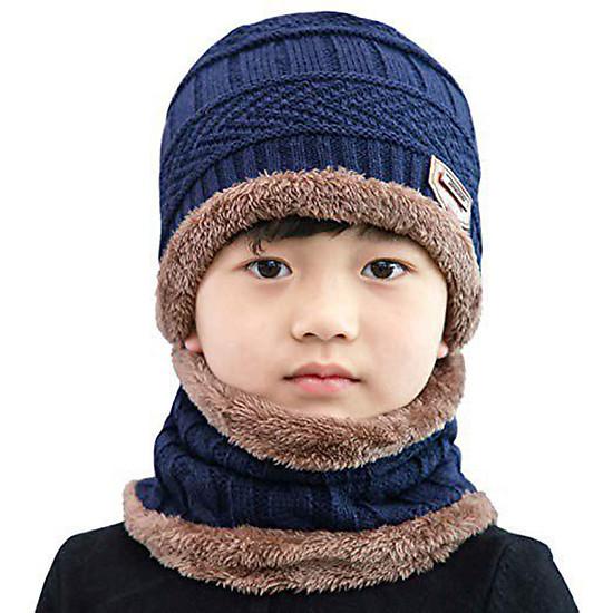 b7ce568018a Mũ len kèm khăn quảng cổ NSTM cho bé – Giá tốt