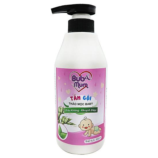 Tắm gội Thảo mộc Baby chiết xuất Trầu Không và Khuynh diệp 500ml BuB&MuM công dụng diệt k